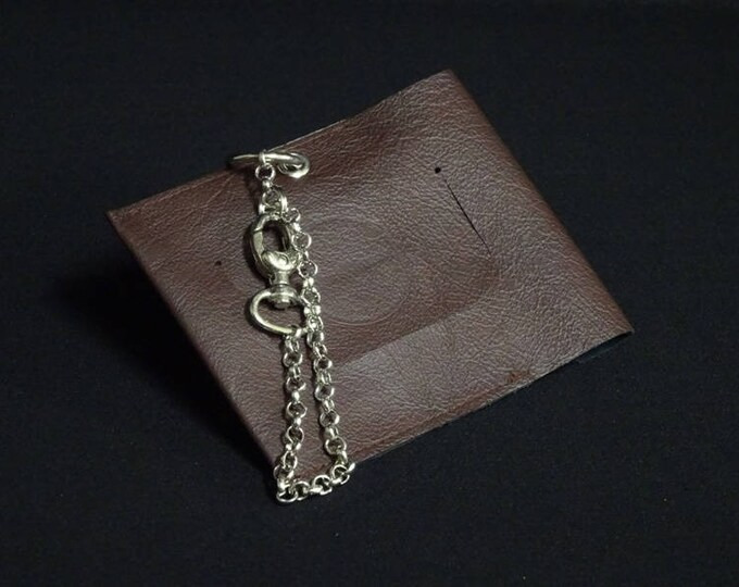 Travel Luggage Tag - Brown - Kangaroo leather - Handmade - James Watson