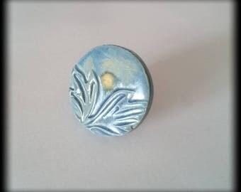 Ceramic Cabochon Adjustable ring