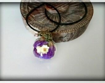 Bubble necklace adjustable fleurie_ nature