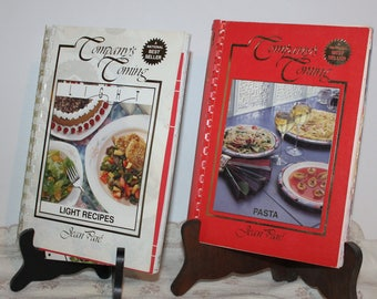 Cookbooks Set of 2 Company's Coming Cookbooks, Light Recipes & Pasta National Best Sellers by Jean Pare