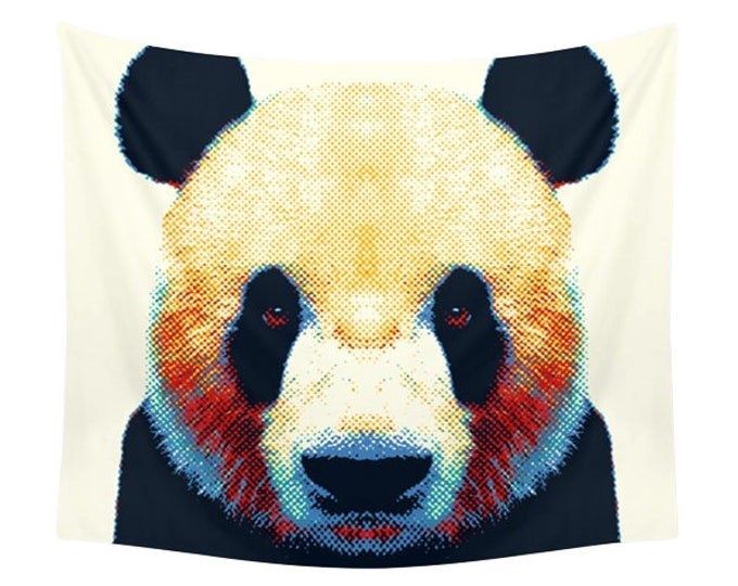Panda Tapestry - Colorful Animals