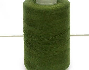 Sewing thread cone green poly-cotton