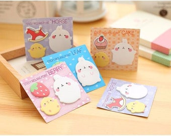 Cute Molang Sticky Notes