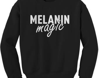 Melanin Magic Adult Crewneck Sweatshirt