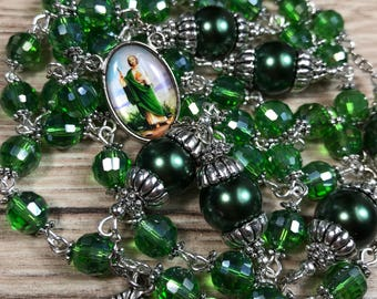 Saint Jude Handmade Rosary