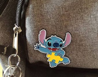 Au-some Stitch Enamel Pin (Autism Awareness)