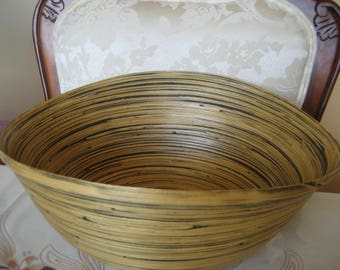 Large Bamboo Bowl