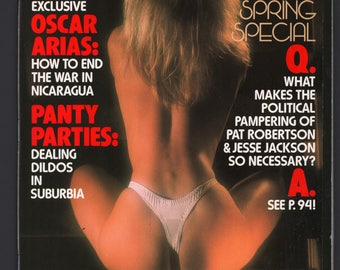 Mature Vintage Penthouse Magazine Mens Girlie Pinup : May 1988 VG+ White Pages Intact Centerfold
