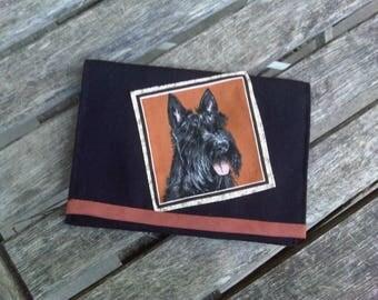 clutch or purse black scottish dog