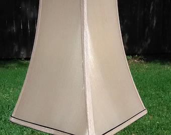 Unique shaped Lampshade w/Harp