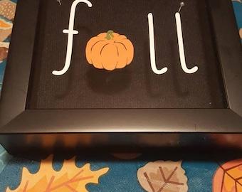 Fall Pumpkin shadow box