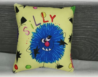 Pillow 10 by 11cm Monster
