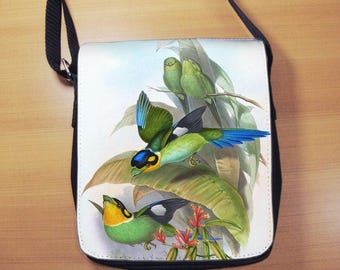 John Gould Birds of Asia Small Shoulder Bag, Small Crossbody Bag, Small CrossBody Purse, Cross Body Bag, Sling Bag, Small Purse, Bag