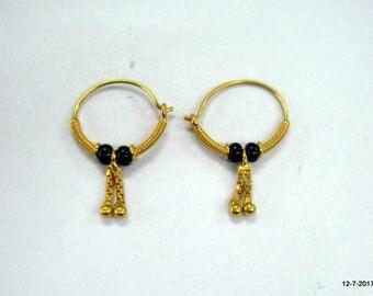 traditional design 18kt gold earrings upper ear earrings infant hoop earrings
