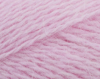 Rowan Angora Haze + Free Quick Patterns 12.50+1.25ea to Ship Baby 521 Pink Angora Haze Yarn 150yd Fine Halo, Pure Heaven! MSRP 16.00
