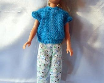 55 blue summer type skipper doll outfit