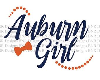 Auburn Girl SVG, Auburn SVG, DXF File, Cricut File, Cameo File, Silhouette File
