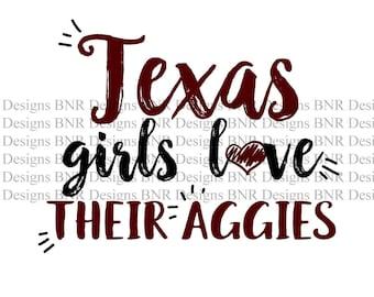 Aggies SVG, Texas A&M SVG, DXF File, Cricut File, Cameo File, Silhouette File