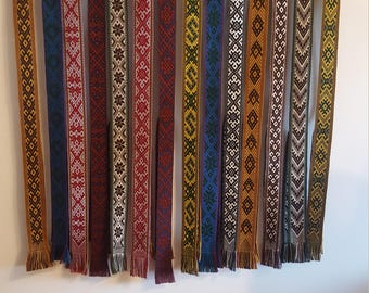 Necktie woven handmade traditional cotton half wool lithuania