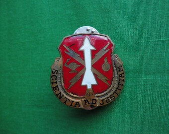 Army Crest Pin Missle and Munition School
