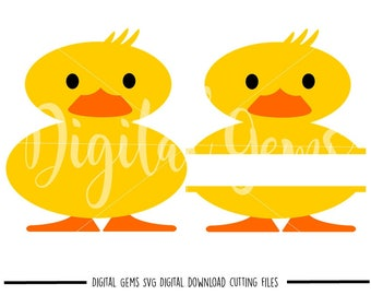 Duck, Split Duck svg / dxf / eps / png files. Digital download. Compatible with Cricut and Silhouette machines. Small commercial use ok.