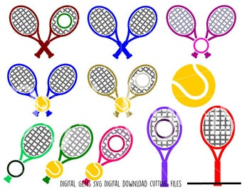 Tennis svg / dxf / eps / png files. Digital download. Compatible with Cricut and Silhouette machines. Small commercial use ok.
