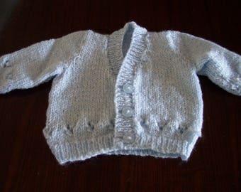 Hand Knitted V Neck Boys Cardigan