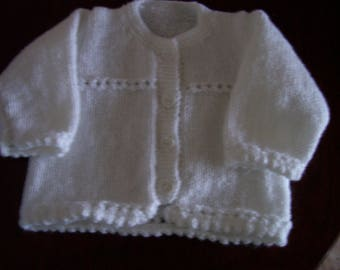 Hand Knitted Matinee Coat