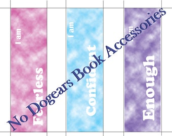 Inspirational Airbrush Printable Bookmarks / Printable Bookmarks / DIY Bookmarks / Print at Home Bookmarks