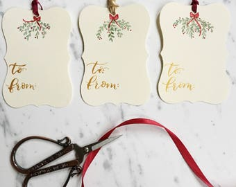 Hand Painted Calligraphy Gift Tags (set of 3)