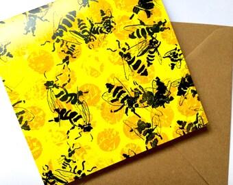 Palais Garnier Bees Greeting Card - with envelope