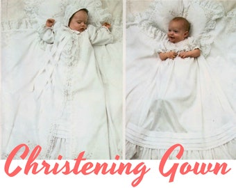 Christening Gown Pattern Baptism Gown Pattern LITTLE VOGUE 1474 UNCUT one size Baby Gown Baby Coat Pattern Baby Bonnet Pattern Baby Blanket