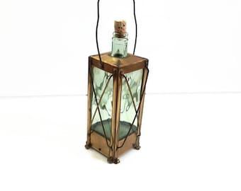 vintage french bottle, lantern shapped