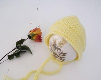 Hand Knit Newborn Hat- Handmade newborn photography props