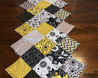 Black & Yellow Table Runner