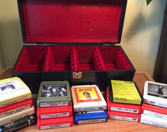 Vintage Eight Track Case INCLUDES 15 Eight Track Tapes!