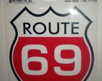 Route 69 Vintage Sticker