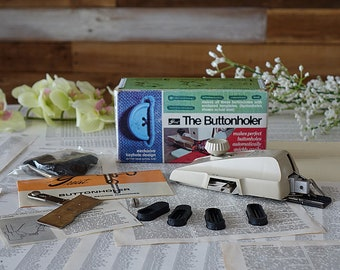 Vintage Greist The Buttonholer #1-Z Automatic buttonhole attachment New model for zig-zag sewing machines