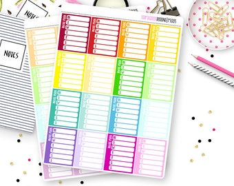 16 Meal Plan Sidebar Trackers for Erin Condren Life Planner, Plum Paper or Mambi Happy Planners