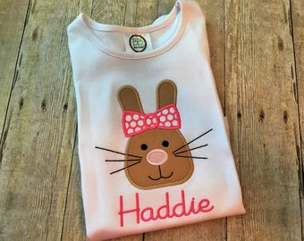 Easter shirt for girls - Girl Easter outfit - Easter bunny shirt - Baby Girl Easter - Personalized Easter shirt - Girl First Easter shirt