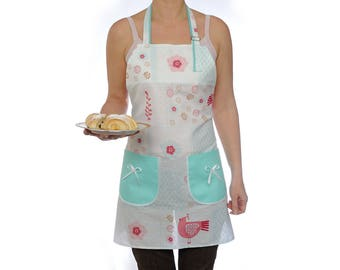 Full apron Kitchenware Womens Aprons Cooking gift for wife Adjustable apron Natural Cotton apron Kitchen apron Pinafore apron Gift for mum