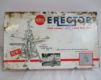 Vintage Gilbert Erector Set Lunar Drilling Set No 10221 C