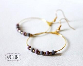 Earrings Creole ° Pearl Pastel
