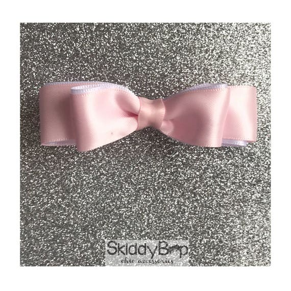 Pink Satin Double Bow