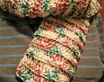 Mens scarf, Bulky Mens scarf, Crochet scarf,