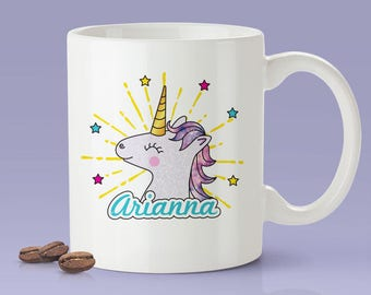 Personalized Unicorn Name Mug -  Cute Gift Idea For Unicorn Lovers