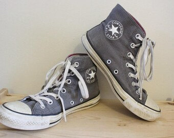 Vintage 90's Gray Converse All-Star High Top Sneakers Men's 5 1/2/Women's 7 1/2