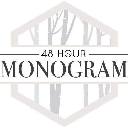 SALE Item Large Inch Wooden Monogram Letters Vine Room