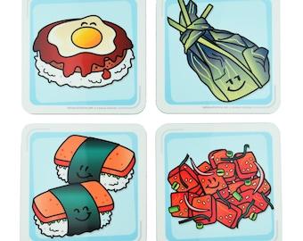 Hawaiian Coaster Set, Table Coasters Set, Cork Coasters Set, Cute Coasters Set, Unique Coasters Set, Cool Coasters Set, Bar Coasters Set