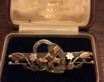 Silver and gold sweethearat brooch birmingham 1906 S.Bros